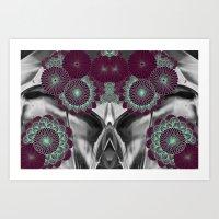 geode Art Prints featuring Geode 5 by michiko_design