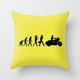 bikers evolution Throw Pillow