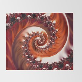 Beautiful Crimson Passion - The Heart of the Rose Fractal Throw Blanket