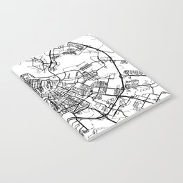 AMSTERDAM NETHERLANDS BLACK CITY STREET MAP ART Notebook