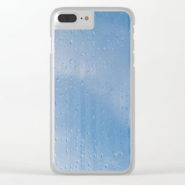 Abstract of condensation and vapor Clear iPhone Case