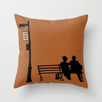 manhattan Throw Pillows featuring Manhattan by FilmsQuiz