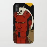 hell iPhone & iPod Cases featuring hell by nu boniglio