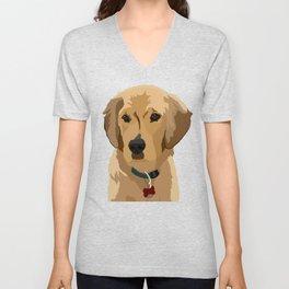 Beau the Golden Retriever Puppy Unisex V-Neck
