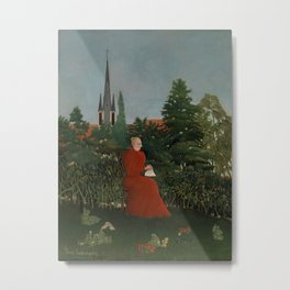 Portrait of a Woman in a Landscape Metal Print