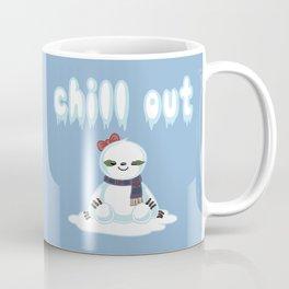 Snow Sloth says Chill Out Coffee Mug