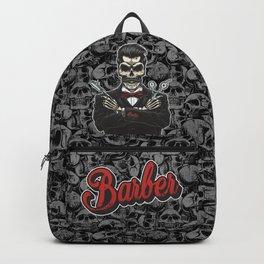 Barber Skull Gentlemen Backpack