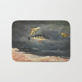 Vintage Winslow Homer Fish & Butterfly Painting (1900) Bath Mat