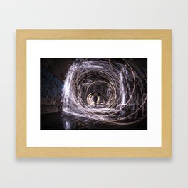 Time Warp Tunnel Framed Art Print