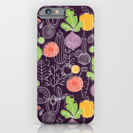Vegetable Pattern Scandinavian Design iPhone Case