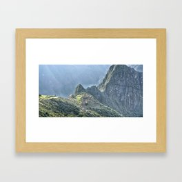 The Lost City of The Incas Framed Art Print