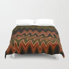 Fractal Tribal Art in Autumn Duvet Cover