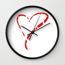 Best Grandma Ever Love Heart Mother's Day T-Shirt Wall Clock