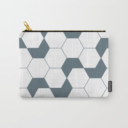 Geometric Pattern #46 (gray hexagons) Carry-All Pouch