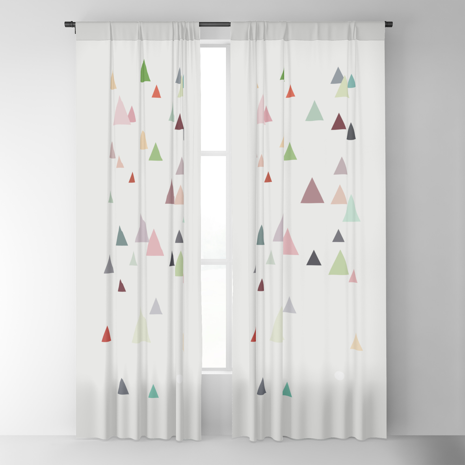 Pastel Colors Blackout Curtain By Ia Po