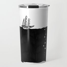 Big Whale, Little Boat Travel Mug