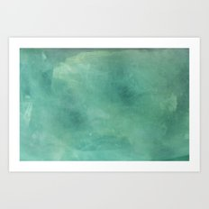 Turquoise Stone Texture Art Print