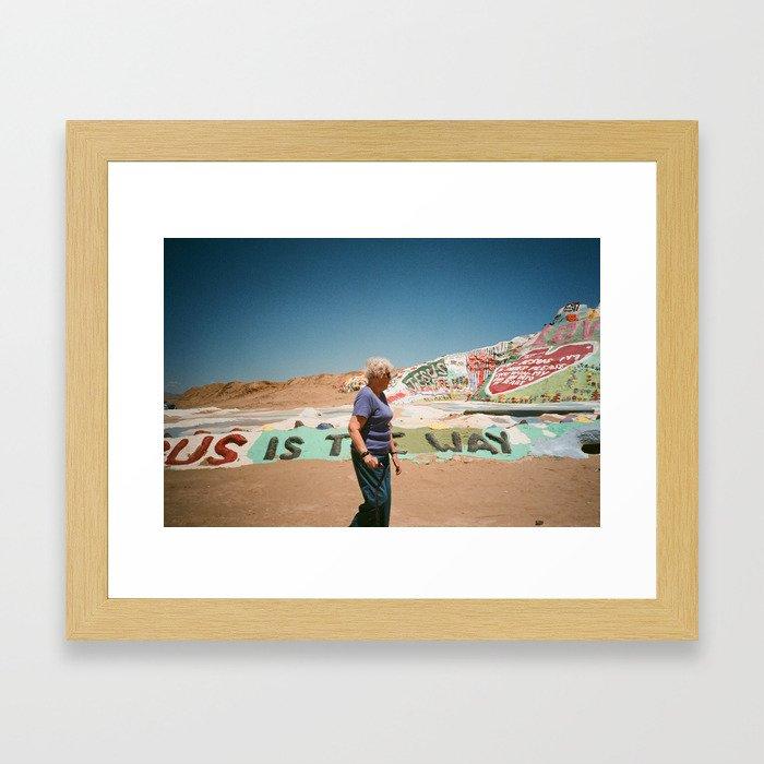 Salvation Lady Framed Art Print
