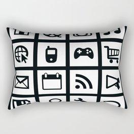 Web Icons Rectangular Pillow