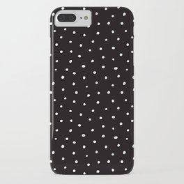 Template iphone cases society6 minimal small white polka dots on black mix match with simplicty of life maxwellsz