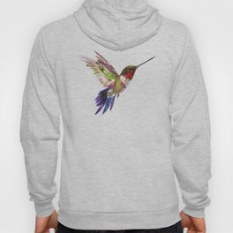 Hummingbird artwork, flying hummingbird Hoody