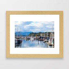 Fall harbor Framed Art Print