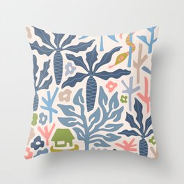 SNAKE IN THE GRASS-3 Throw Pillow