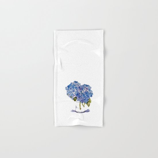 Hydrangea painting Hand & Bath Towel
