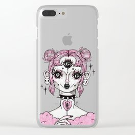 Sickly Sweet (black) Clear iPhone Case
