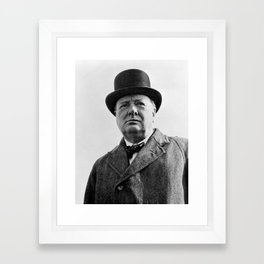 Sir Winston Churchill Framed Art Print