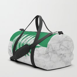 Natural Outlines - Fern Green & White Marble #689 Duffle Bag