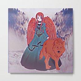 Wolf Princess Scarlet Metal Print