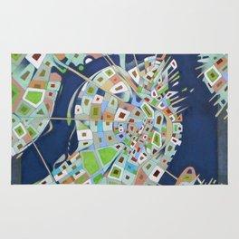city map Rug