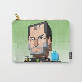Steve Jobs 3D pixel portrait Carry-All Pouch
