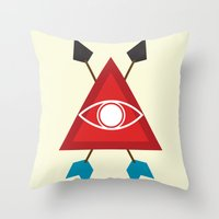 illuminati Throw Pillows featuring Illuminati by Lucas de Souza