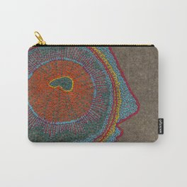 Growing - Thuja - plant cell embroidery Carry-All Pouch