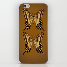 Bahamian Swallowtail Butterfly - Yellow, Black, and Golden Brown iPhone Skin