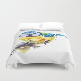 Tiny Colorful Bird Duvet Cover