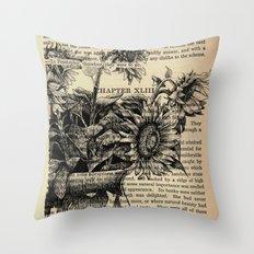 Pride & Prejudice, Chapter XLIII: Sunflowers Throw Pillow