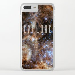 Explore - Monster Stars Clear iPhone Case