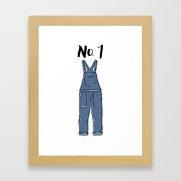 Number One Overall Framed Art Print