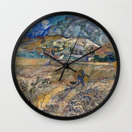 Vincent Van Gogh - Landscape at Saint Remy Wall Clock