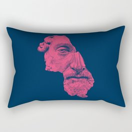 MARCUS AURELIUS ANTONINUS AUGUSTUS / prussian blue / vivid red Rectangular Pillow