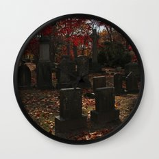 Cemetery Red Wall Clock
