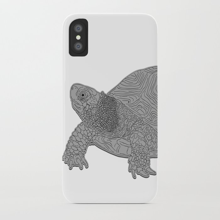 Turtle Illustration B/W iPhone Case
