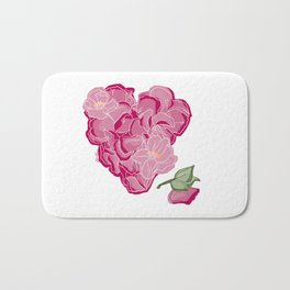 Heart of flowers Bath Mat