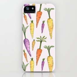 Watecolor Heirlom Carrots iPhone Case