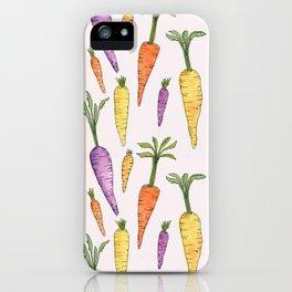 Watecolor Heirlom Carrots iPhone Case