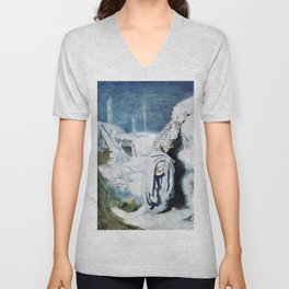 The casualties of the fighting - Sir William Orpen Unisex V-Neck