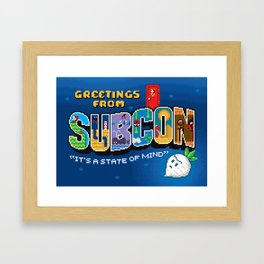 Greetings from Subcon Framed Art Print